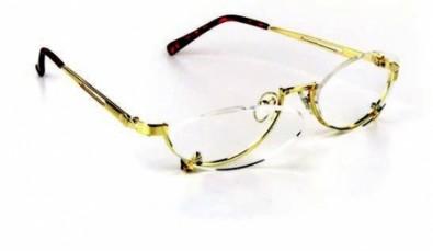 Schminkbrille/ Make up Brille  in Goldmetall